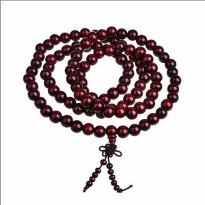 108 Sandalwood Bead Prayer Bracelet/Necklace.